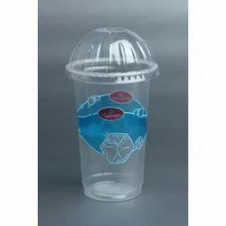 Printed 500 ML Transparent Plastic Shake Glass, 1-3 MM