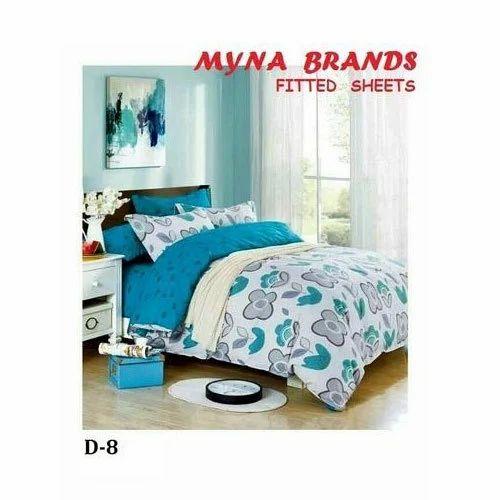 Myna Designer Fitted Bed Sheet