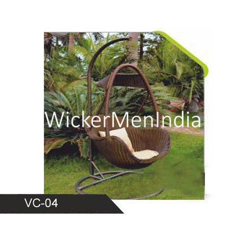 Brown Wickermen India Wicker Porch Swing