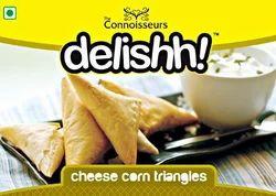 Cheese Corn Triangles