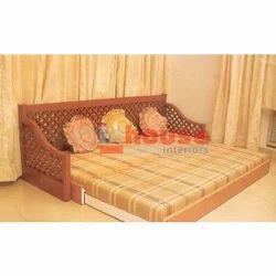 Brown Sofa Cum Bed