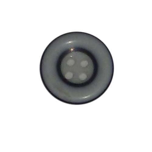 Grey Round Garment Polyester Button, For Garments, Packaging Type: Box
