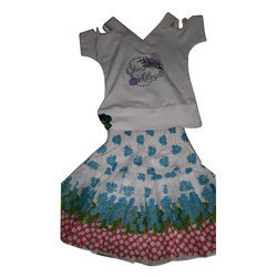 Cotton Casual Wear Kids Girl Designer Skirt And Top
