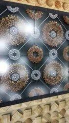 3D Black Wall Tile Design
