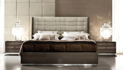 Omni Leather Bed