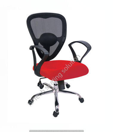 Red Jully Mesh Back Office Chair