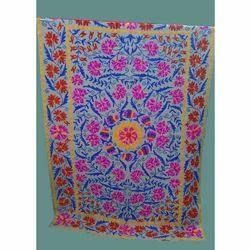 Indian Designer Embroidered Cotton Bed Sheet