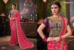 Designer Embroidery Silk Saree