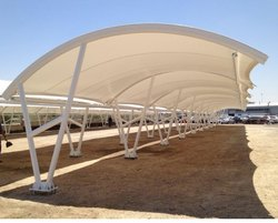 PVC Modular Car Parking Tensile Roofing  Structure