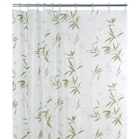 Maytex White Zen Garden Peva Shower Curtain