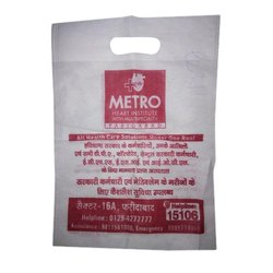 Printed D Cut Non Woven Bags, Size: 10x14