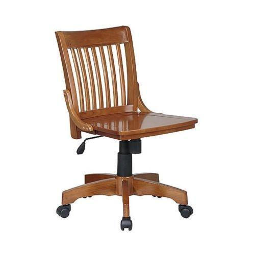 Brown And Black Wooden Office Chair