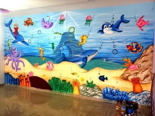 School Wall Painting Artist Surat
