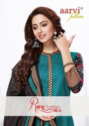 Aarvi Rang Resham Vol-8 Printed Cotton Dress Material Catalog