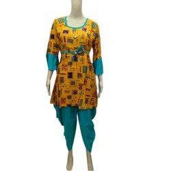 Cotton Stitched Ladies Printed Salwar Suit