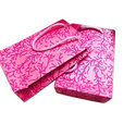 Pink Leaf Hand Made Paper Bags