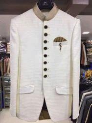 Jodhpuri White Heavy Suit