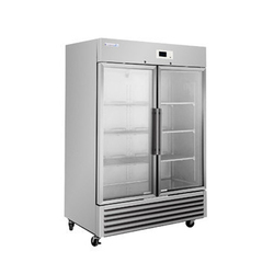 Stainless Steel Glass Door Refrigerator, Electricity
