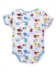 Cotton Blue Baby Bodysuits, Packaging Type: Plastic Packet