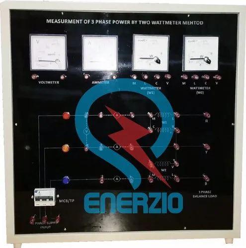 Measurement Of Three Phase Power Using Two Watt Meter Method