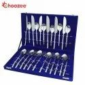 Silver Choozee - Handmade Cutlery Set Of 24 Pcs Round Rod Design