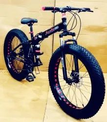 Audi Black Fat Tyre Foldable Cycle