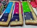 Multi Color Jari Pattern Chiffon Saree