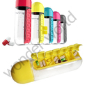 2 in1 Weekly Medicine Pill Box Organizer with Water Bottle