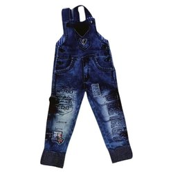 Blue Kids Boys Denim Faded Dungaree