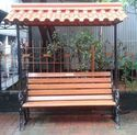 Garden Bench with Roof