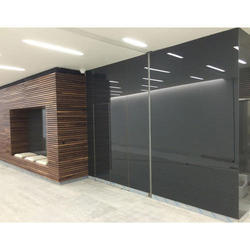 opaque Printed Decorative Office Glass, Thickness: 4mm
