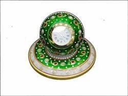 Marble Round Clock