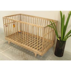 Brown Baby Wooden Bed