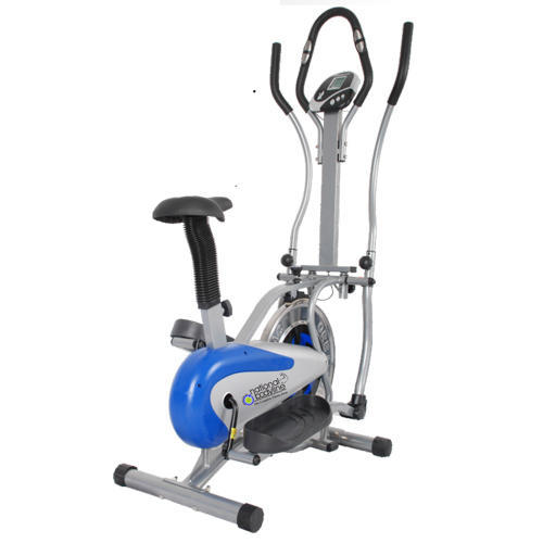Black, White And Blue Magnetic Resistance Upright Exercise