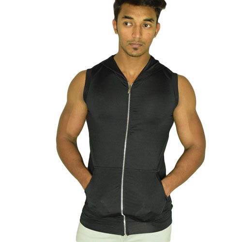 2865a5d672392f Imported Lycra Men  s Sleeveless Hoodie