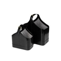 Festival Leatherette Black Executive Gift Hamper Basket