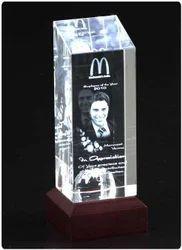 3D-TOWER A-B-C Box Crystal Memento
