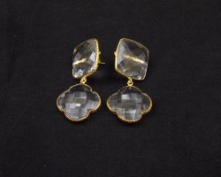 Crystal Quartz Gemstone Earring Set