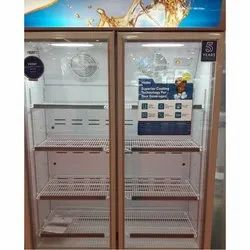 Haier Hinged Door Double Door Vertical Refrigerator, Capacity: 350 L