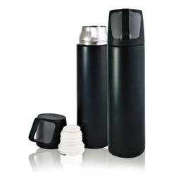 Black Hot and Cold Flask