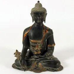 Capstona Black  Brass Buddha Idols