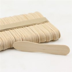 Disposable Ice Cream Sampling Craft Bamboo Wooden Spoon, Size: 75 x 15 x 1.35 mm