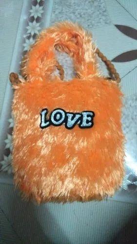 Dual Handle Fur Bag, Capacity: 1 - 2 kg