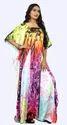 Dubai Women''''s Party Wear Long Ankle Length 3D Printed Kaftan