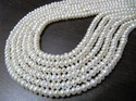 Natural White Pearl Strand for Jewelry