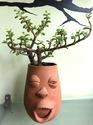Rdv Clay Faces Planter For Interior Decor