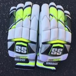 Crimson & Black Leather SS Matrix Cricket Batting Gloves