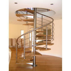 Good Stainless Steel Spiral Staircase, SS Staircase   Nithya Sai Metal Technics,  Hyderabad | ID: 14635630673