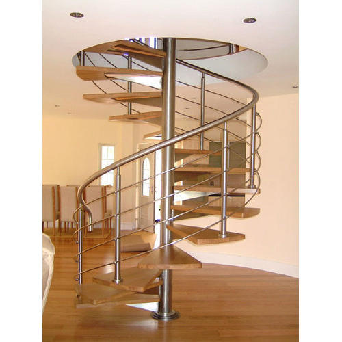 Elegant Stainless Steel Spiral Staircase