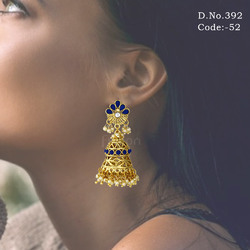 Indian Wedding Traditional Jhumka Earrings
